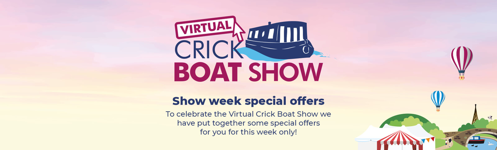 Shop Virtual Crick Boat Show Special Offers