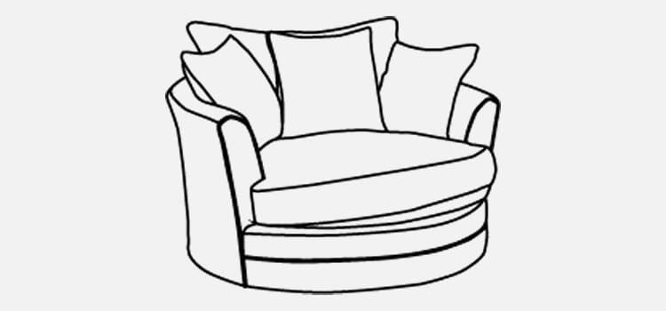 Manhattan Large Swivel Chair