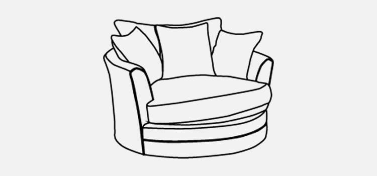 Manhattan Small Swivel Chair Sofa