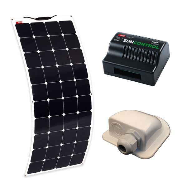 Solarflex Evo 150W + Sun Control MPPT + Gland