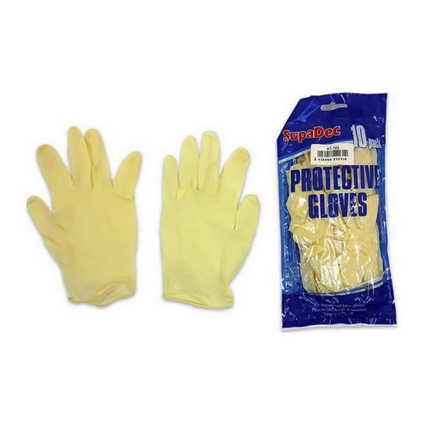 Latex Protective Disposable Gloves (10 Pack)