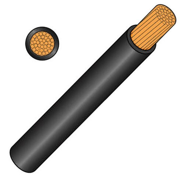 Thin Wall 2.5 Sq mm Black 29A Cable Per Metre
