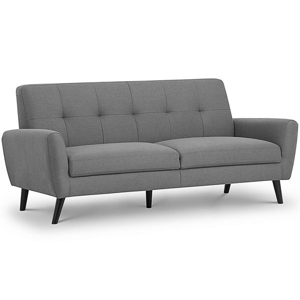 Monza 3 Seater Sofa in Grey Fabric