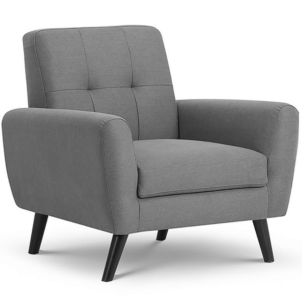 Monza Chair in Grey Fabric