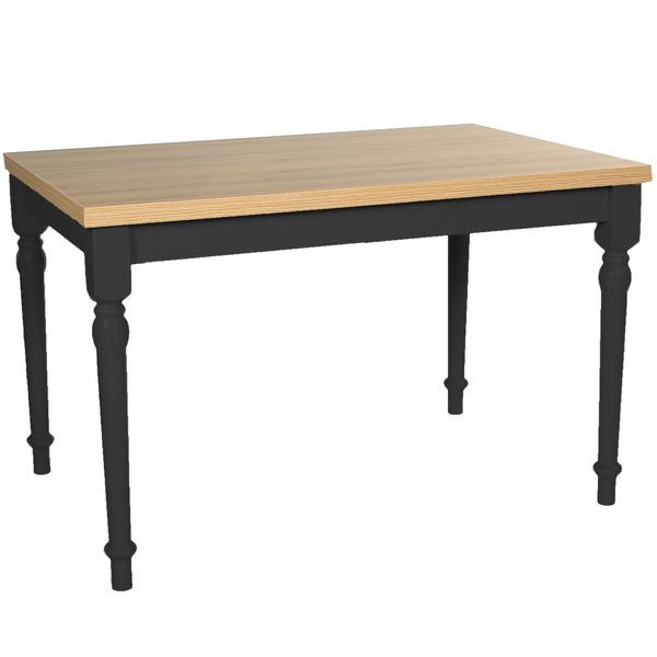 Toulouse Table 1200 x 800mm River Grey Frame with Halifax Oak