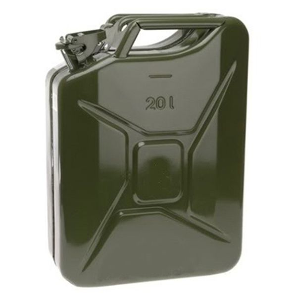 20 Litre Metal Jerry Can Green Un-Approved