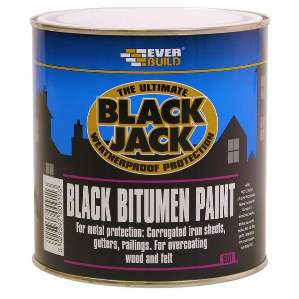 Black Jack Bitumen Paint - 1L