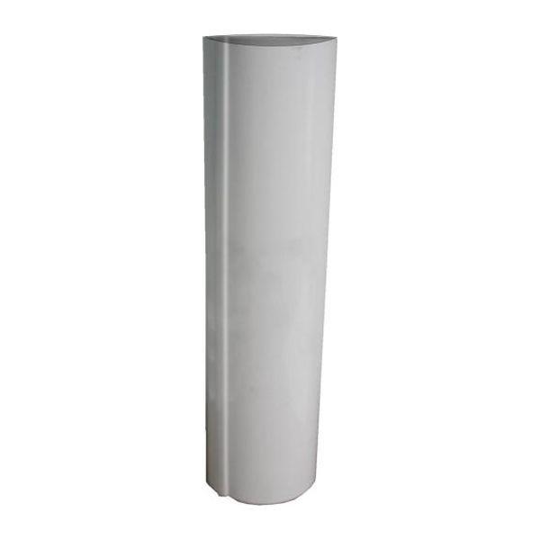 Single Walled Internal Flue Pipe White