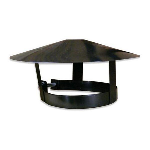 Clamp On Coolie Hat Black