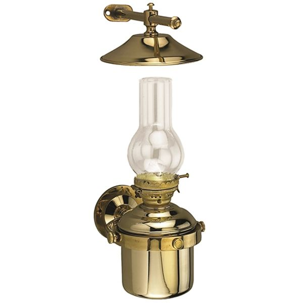 LIGHT OIL LAMP BRASS MOUNT/FREESTANDING