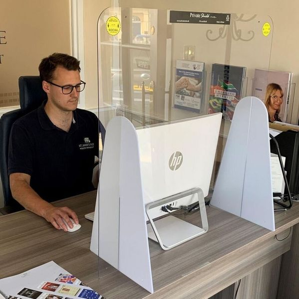 Freestanding Countertop/ Desk Shield Medium