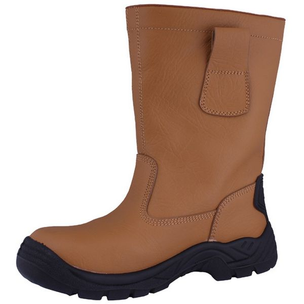 Rigger Tan Leather Safety Boots